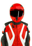Motorbiker op Wit royalty-vrije stock afbeelding