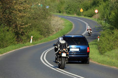 Motorbiker in Poland Royalty Free Stock Images