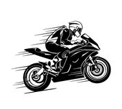 Motorbiker at the race Royalty Free Stock Photo