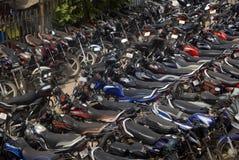 Motorbikes, Alwar, Rajasthan, India. Motorbikes in front of the railway station in Alwar, Rajasthan, India stock photo