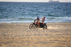 Motorbikes on the beach #3 Royalty Free Stock Photos