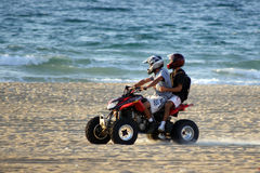 Motorbikes on the beach #5 Stock Images