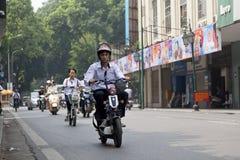 Motorbikes in Hanoi, Vietnam. Stock Image
