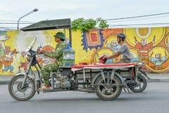 Motorbikes in Hanoi, Vietnam Stock Image