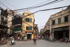Motorbikes in Hanoi, Vietnam. Royalty Free Stock Photos