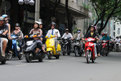 Motorbikes in Ho Chi Minh City Royalty Free Stock Photo