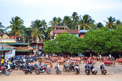 Motorbikes in india Stock Photos