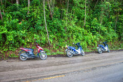 Motorbikes on Mae Hong Son loop Royalty Free Stock Photography
