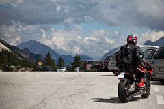Motorbikes on Mountain Road Royalty Free Stock Photo