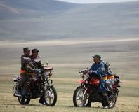Motorbikes at Naadam Stock Image