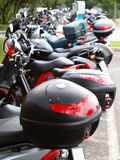 Motorbikes parking Stock Photography