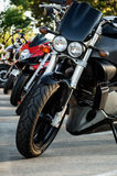 Motorbikes parking Royalty Free Stock Image