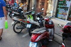 Motorbikes in Phuket Town Stock Images
