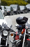 Motorbikes in a queue Royalty Free Stock Image