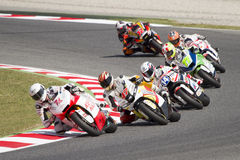 Motorbikes racing Stock Photography