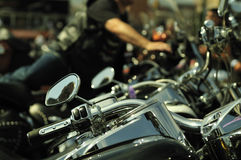 Motorbikes in a row Royalty Free Stock Image