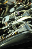 Motorbikes in a row. Plenty motorbikes in a row Royalty Free Stock Image