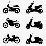 Motorbikes and scooters Royalty Free Stock Photos