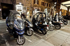 Motorbikes on the strees of Rome Stock Photos