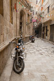 Motorbikes in the street. Of Cairo, Egypt Royalty Free Stock Photo