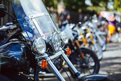 Motorbikes on street Royalty Free Stock Image