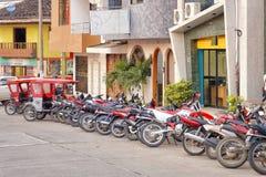 Motorbikes, tarapoto, peru Royalty Free Stock Photography