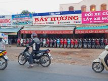 Motorbikes in Vietnam Stock Photography