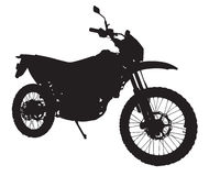 motorbikesilhouette stock illustrationer