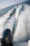 motorboat ίχνη Στοκ Εικόνες