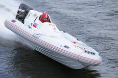 motorboat αθλητικό λευκό Στοκ Εικόνες