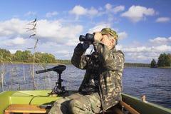 motorboat ατόμων Στοκ εικόνα με δικαίωμα ελεύθερης χρήσης