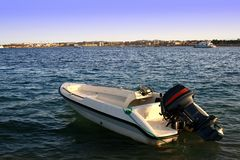 motorboat arkivbild