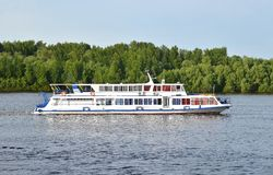 Motorboat. On the Dnieper river, Kiev, Ukraine royalty free stock images