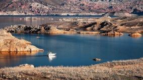Motorboat Cruising Lake Mead Royalty Free Stock Photos