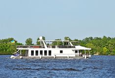 Motorboat. On the Dnieper river, Kiev, Ukraine royalty free stock photos