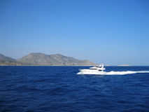 motorboat Ilha do Rodes Greece Imagem de Stock Royalty Free