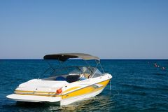 Motorboat In A Sea Royalty Free Stock Photo