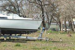 Motorboat jachtu łęk zdjęcia stock