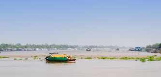 Motorboat on Mekong river, southern Vietnam Stock Image