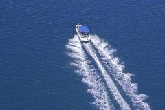 Motorboat. Motor boat on a blue Adriatic sea, Croatia stock photography