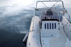 Motorboat. Motor boat on quiet water stock image