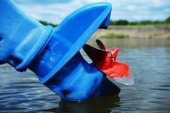 Motorboat propeller Stock Images