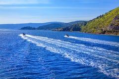 Motorboat przejażdżka fotografia stock