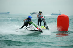 Motorboat racing Royalty Free Stock Photos