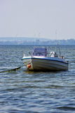 Motorboat in the sea. Empty motor boat on the sea royalty free stock images