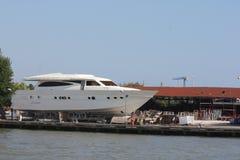 Motorboat In Shipyard Royalty Free Stock Image