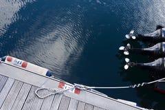 Motorboat silniki Fotografia Royalty Free
