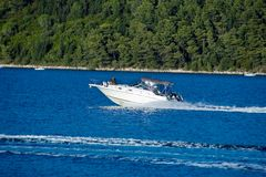 Motorboat or speedboat Royalty Free Stock Photo