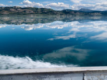 Motorboat Trip on Lake Laberge, Yukon T., Canada Royalty Free Stock Photography