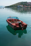 Motorboat in Trogir Royalty Free Stock Photos